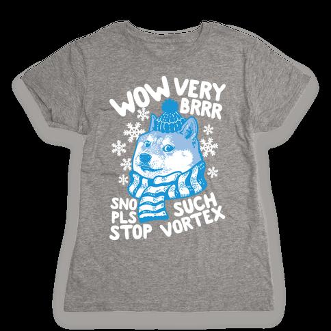 Winter Doge Womens T-Shirt