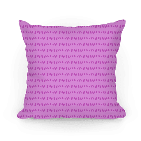 Doodle Sewing Stitches Pattern (Purple) Pillow