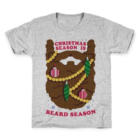Christmas Season is Beard Season Kids T-Shirt