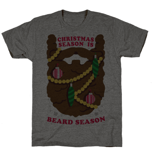 Christmas Season is Beard Season Mens T-Shirt