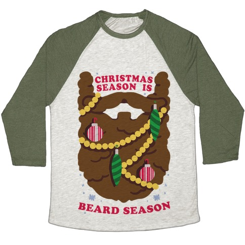 Christmas Season is Beard Season Baseball Tee