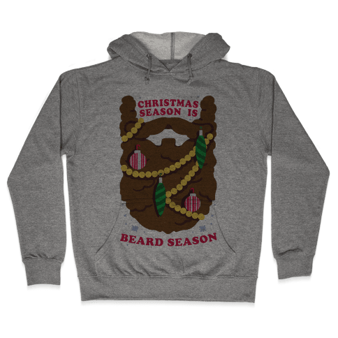 Christmas Season is Beard Season Hooded Sweatshirt