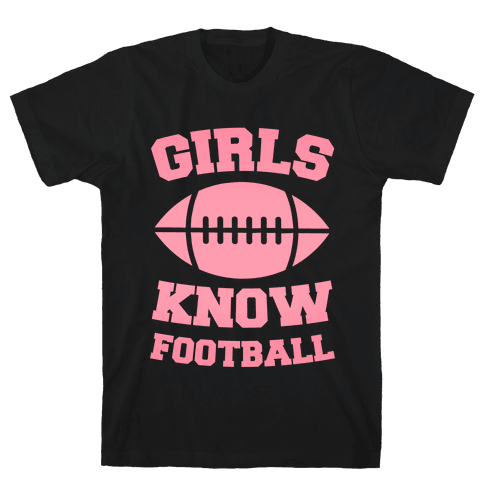 Girls Know Football Mens T-Shirt