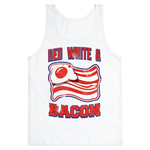 Red White and Bacon (tank) Tank Top
