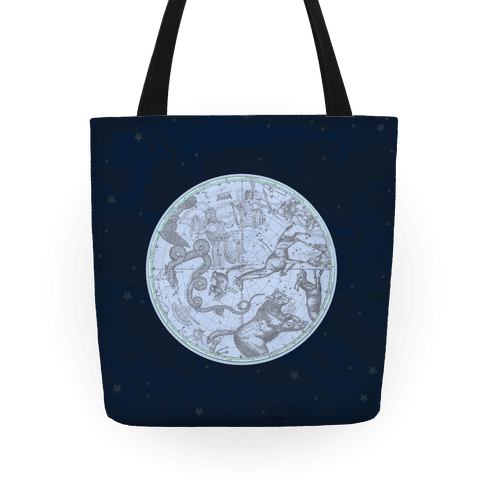 Vintage Constellation Map Tote