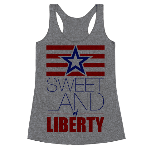 Sweet Land of Liberty Racerback Tank Top