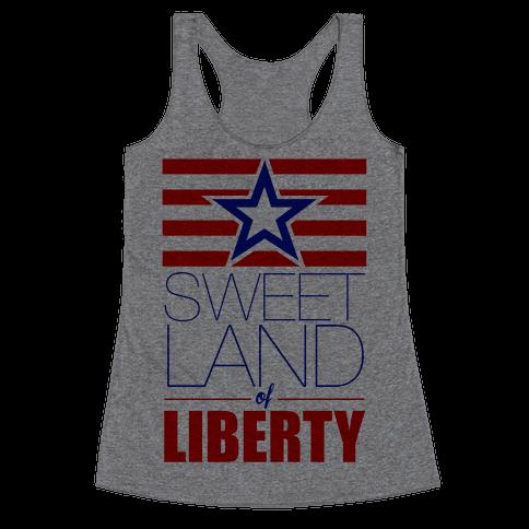 Sweet Land of Liberty Racerback Tank Top