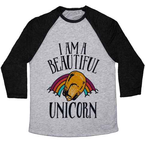 I Am a Beautiful Unicorn Kernel Baseball Tee