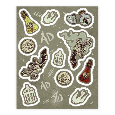 Bioshock Infinite Sticker/Decal Sheet