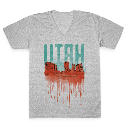 Monument Valley, Utah V-Neck Tee Shirt