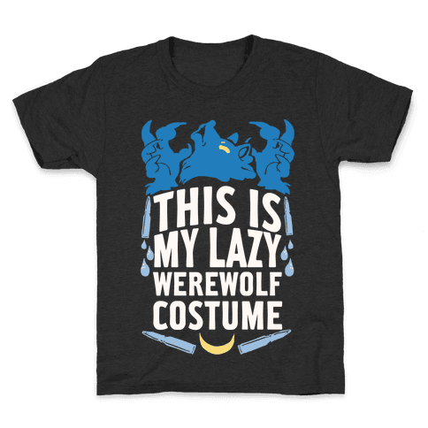This Is My Lazy Werewolf Costume Kids T-Shirt