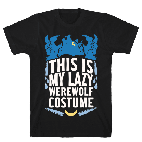 This Is My Lazy Werewolf Costume Mens T-Shirt