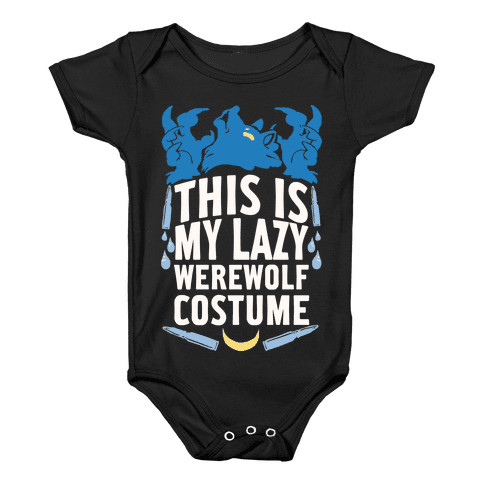 This Is My Lazy Werewolf Costume Baby Onesy