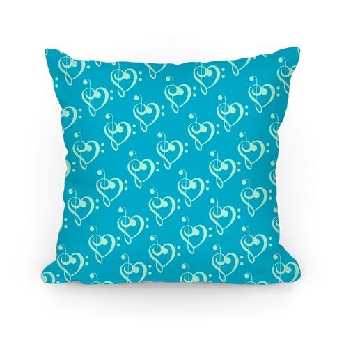 Music Clef Pattern Pillow