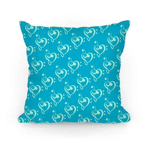 Music Clef Pattern Pillow