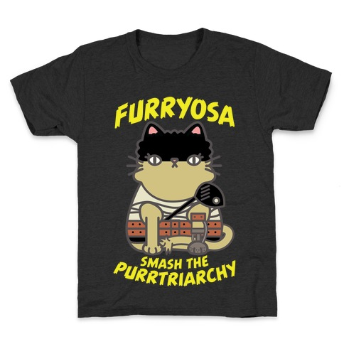 Furryosa Smash the Purrtriarchy Kids T-Shirt