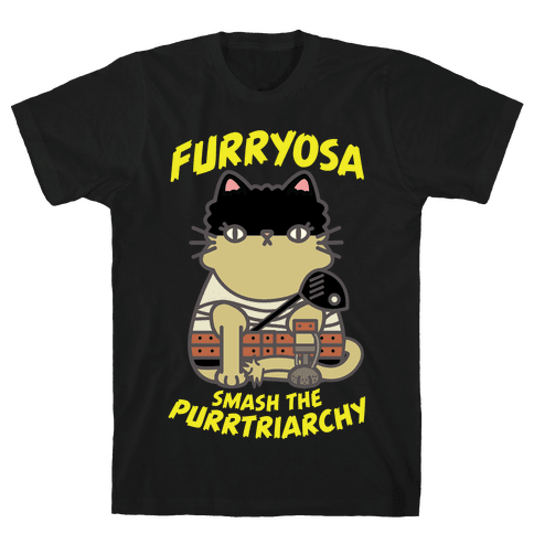 Furryosa Smash the Purrtriarchy Mens T-Shirt