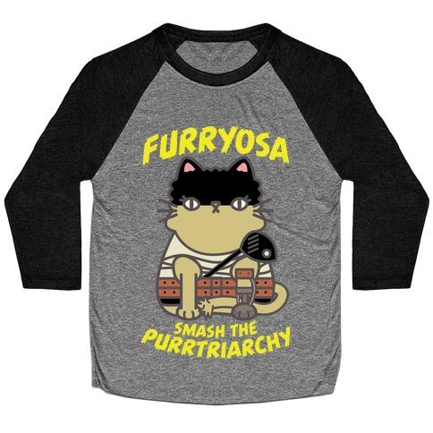 Furryosa Smash the Purrtriarchy Baseball Tee