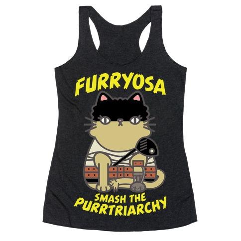 Furryosa Smash the Purrtriarchy Racerback Tank Top
