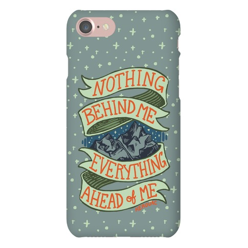Nothing Behind Me, Everything Ahead Of Me (Kerouac) Phone Case