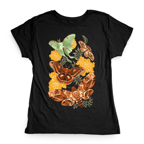 Moths & Marigolds Womens T-Shirt