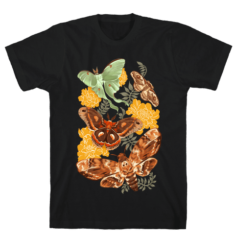 Moths & Marigolds Mens/Unisex T-Shirt
