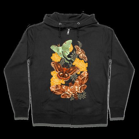 Moths & Marigolds Zip Hoodie