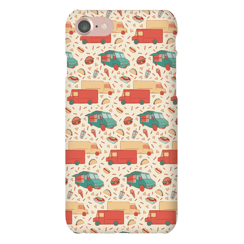 Food Truck Festival Pattern Phone Case
