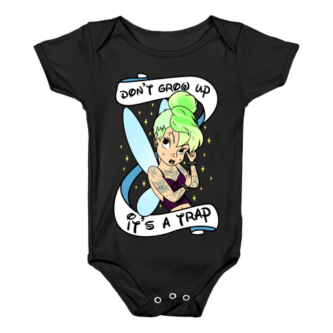 Punk Tinkerbell (Don't Grow Up It's A Trap) Baby Onesy