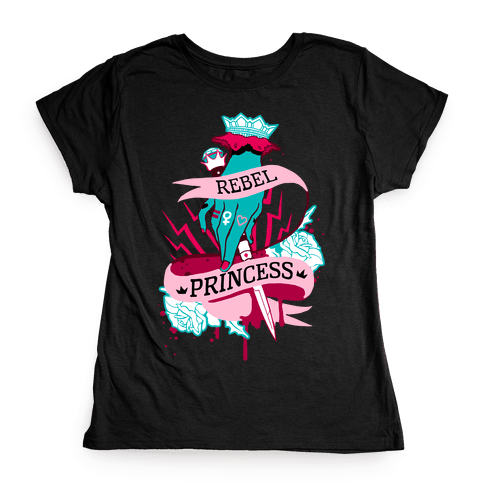 Rebel Princess Womens T-Shirt