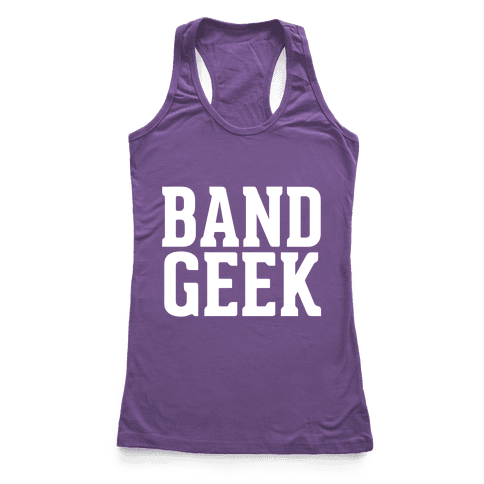Band Geek Racerback Tank Top