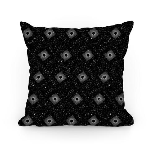 Abstract Geometric Sun Pattern Pillow