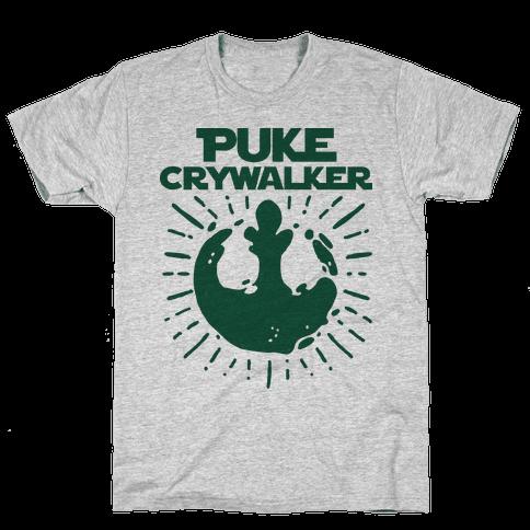 Puke Crywalker  Mens T-Shirt
