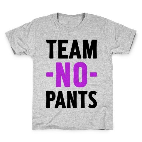 Team No Pants Kids T-Shirt
