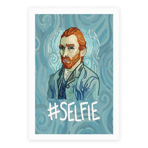Van Gogh Selfie Poster