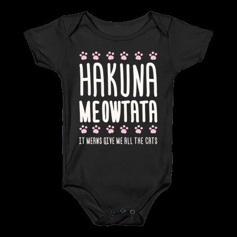 Hakuna Meowtata Baby Onesy