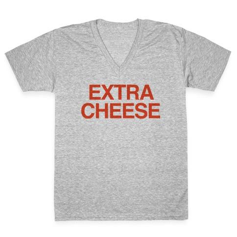 Extra Cheese V-Neck Tee Shirt