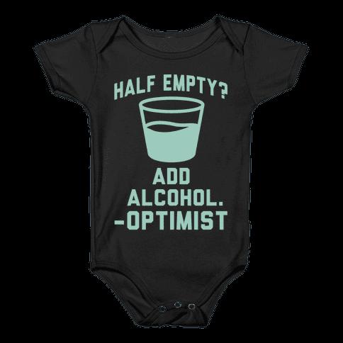 Optimistic Alcoholic Baby Onesy