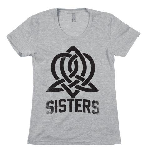 Sisters (Celtic Design) Womens T-Shirt
