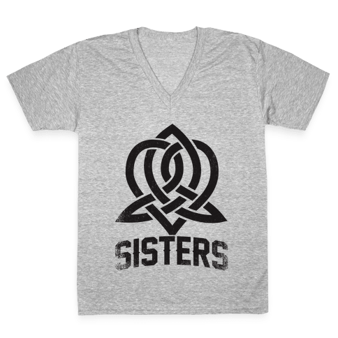 Sisters (Celtic Design) V-Neck Tee Shirt