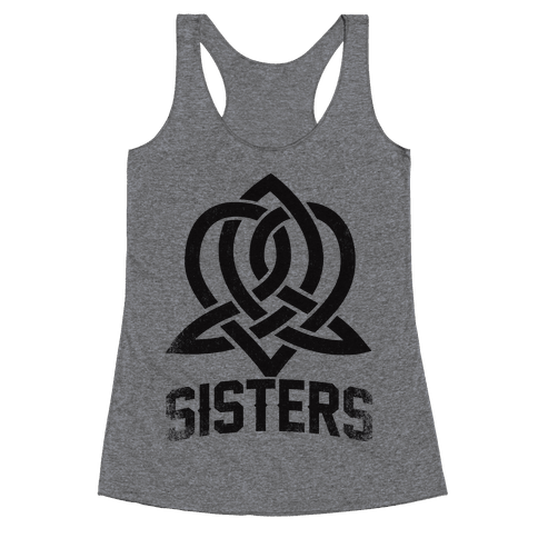 Sisters (Celtic Design) Racerback Tank Top