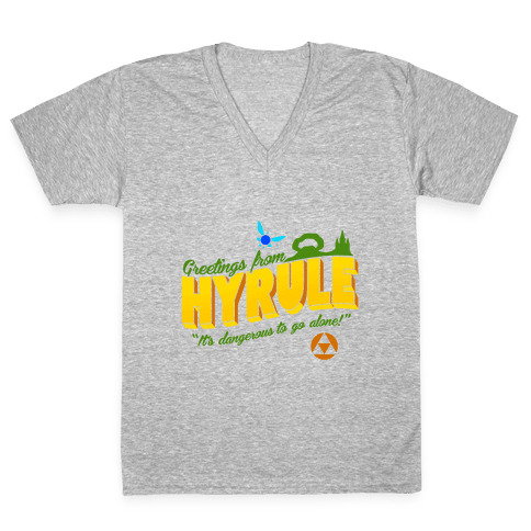 Greetings From Hyrule V-Neck Tee Shirt