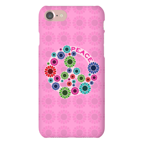 Floral Peace Sign Phone Case