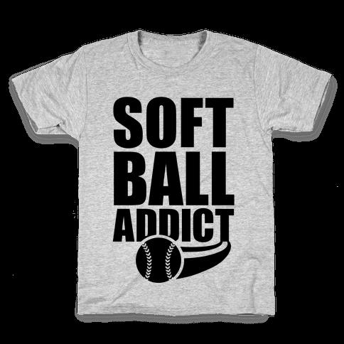 Softball Addict Kids T-Shirt