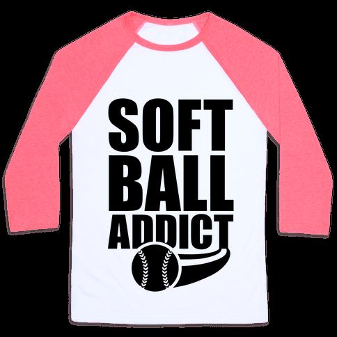 Softball Addict Baseball Tee