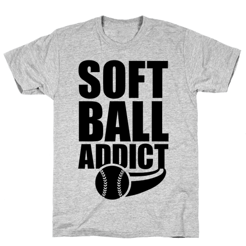 Softball Addict Mens T-Shirt