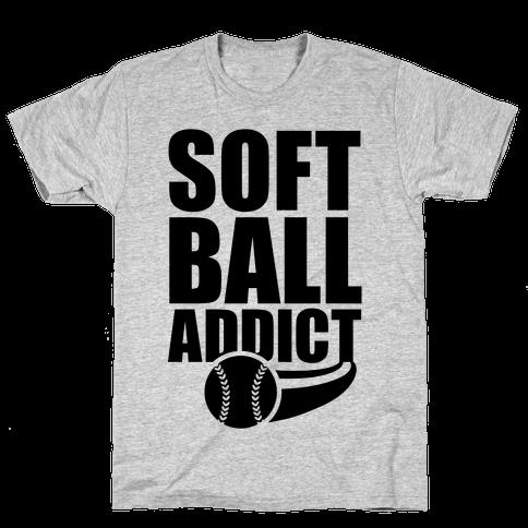 Softball Addict Mens T-Shirt
