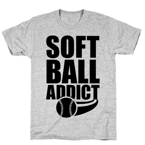 Softball Addict Mens/Unisex T-Shirt
