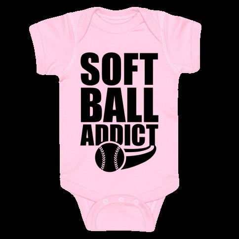 Softball Addict Baby Onesy