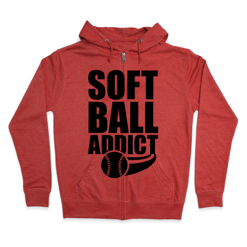 Softball Addict Zip Hoodie